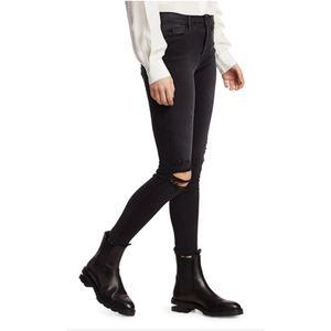 Frame le skinny black grey stretch jeans 26